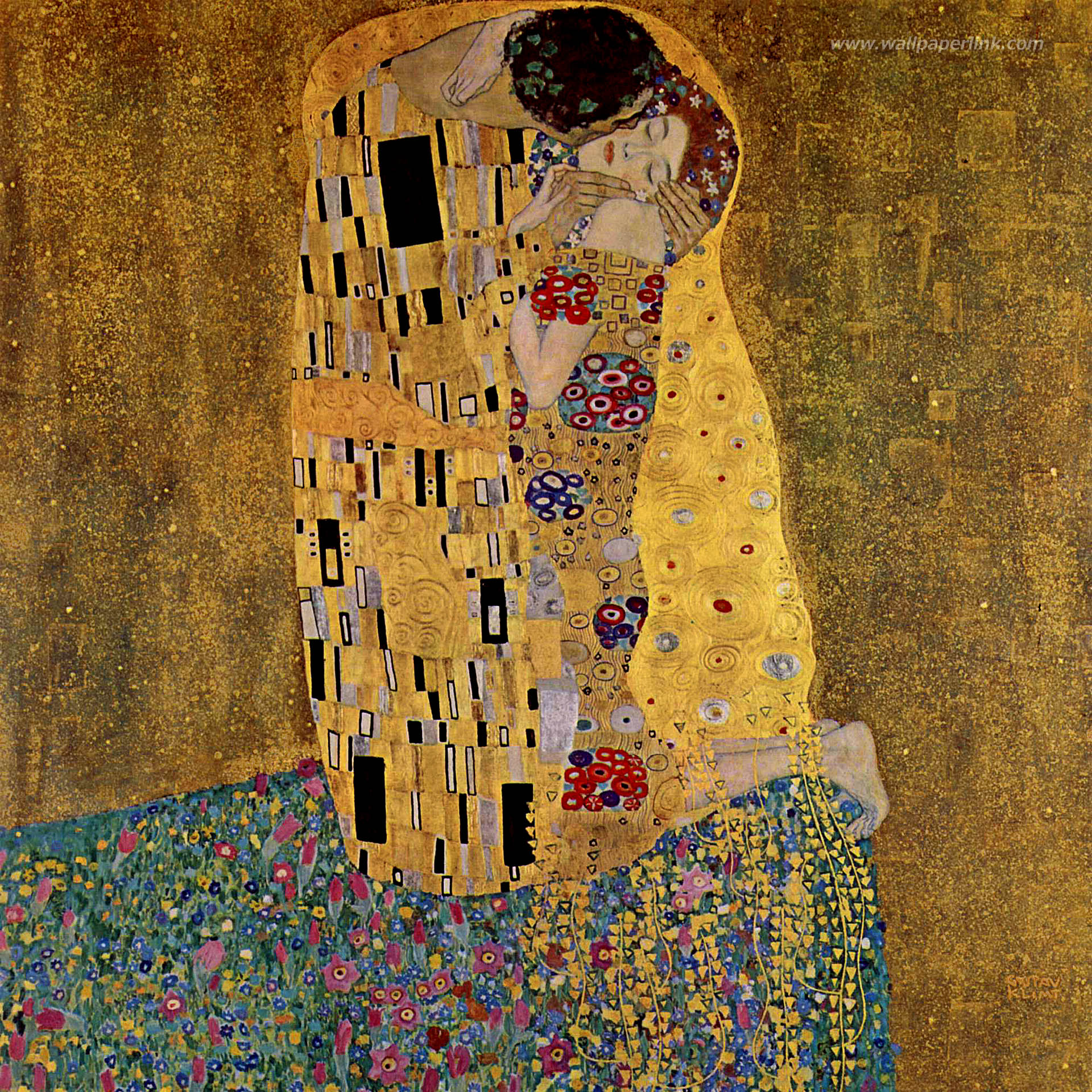 pin gustav klimt wallpapers art print paintings fine wallpaper on pinterest. Black Bedroom Furniture Sets. Home Design Ideas
